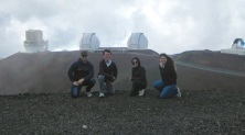 The whole group in front of Keck Observatory